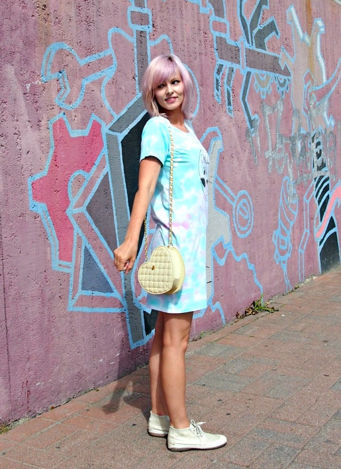 tie dyed, alien dress